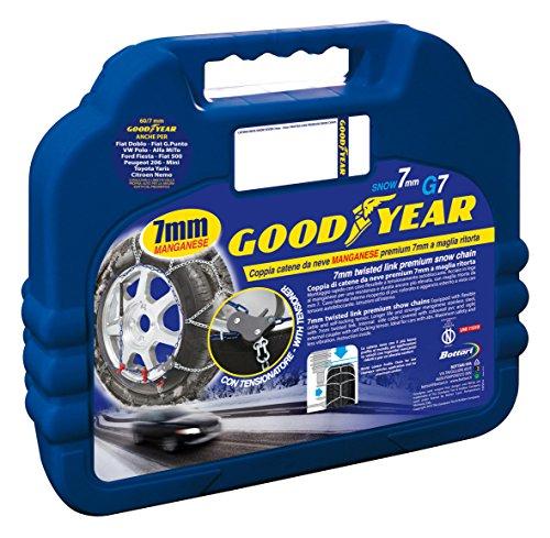 Goodyear 77958 Catene neve 7 mm per auto, Misura 130