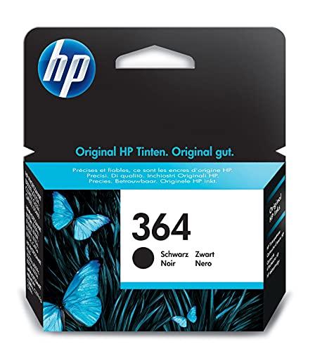 HP 364 Cartouche d'encre d'origine noire capacité standard 6 ml 250 pages 1 pack avec encre Vivera