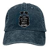 Hdadwy Todo lo que Quiero Hacer es Dejar Crecer una Barba Sombrero de Mezclilla Vaquero Ajustable Retro Unisex Hip Hop Gorras de béisbol Negras