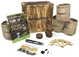 Montagsliebe Bonsai Starter Kit Premium regalo Anzucht-Set 4 tipos Holzbox gratuita instrucciones & tijeras