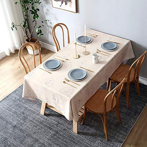 VitaLity Wischt saubere Tischdecken im nordischen Stil ab,wasserdicht,staubdicht,Antifouling und haltbare waschbare Tischdecken aus Baumwolle und Leinen,Partytischdecken für Kinder 140X140cm