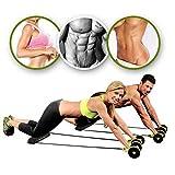 YANGSANJIN Doppelräder Ab Roller Pull Seil Taille Bauch Abnehmen Ausrüstung Muskeltrainingsgeräte Heimfitnessgeräte - 4