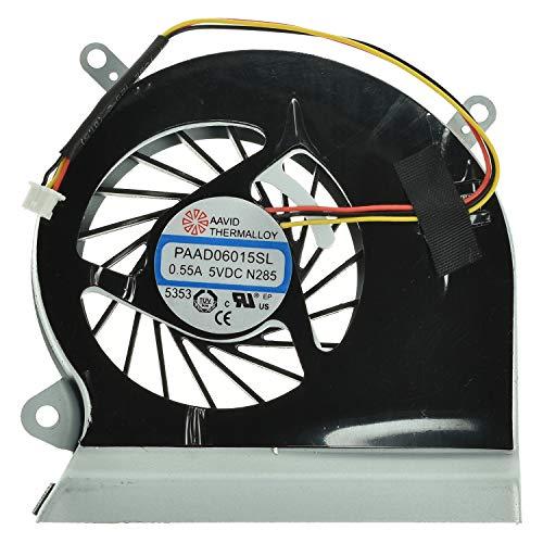 LPUK Ventilador de refrigeración de repuesto compatible con MSI GE60, GE70, MS-16GA, MS-16GC, MS-1759