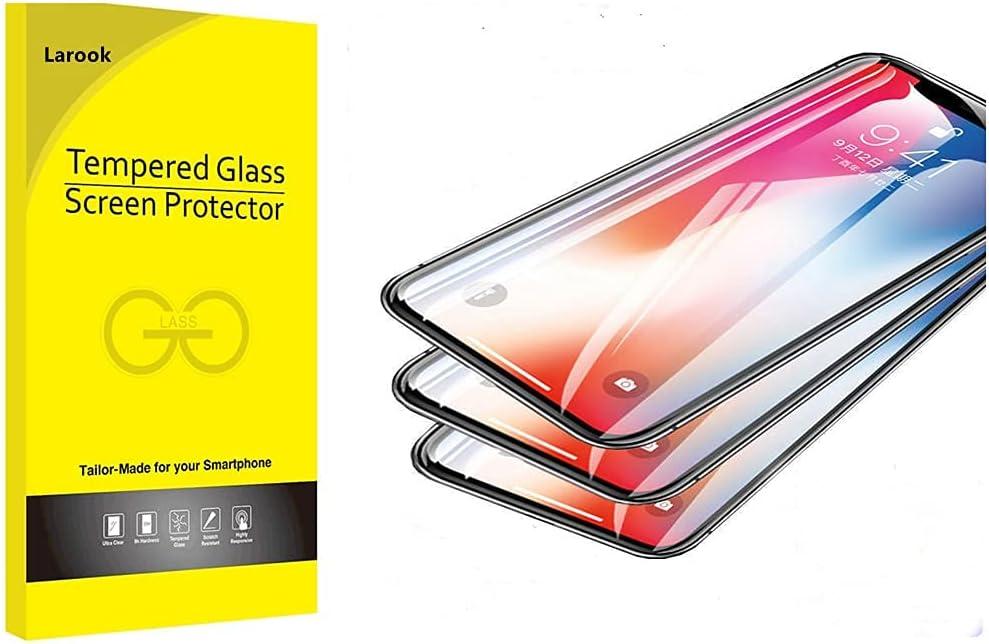 واقي شاشة Larook لهاتف Samsung Galaxy A03s، مضاد للخدش، مضاد للبصمات، لا يوجد فقاعات، طبقة واقية واقية خفيفة زرقاء لحماية العينين- عبوة من قطعتين