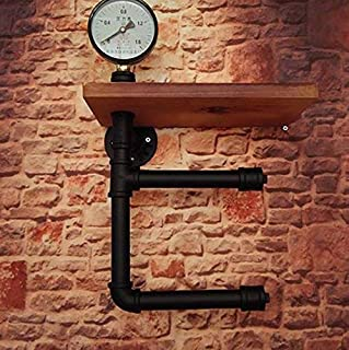Évier De Cuisine Étagère Rétro Fer Tuyaux d'eau Support De Rouleau sur Le Mur Salle De Bain Rouleau Carton Étagère De Sépa...