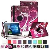 NAUC Tablet Schutzhülle für Sony Xperia Z4 aus Kunstleder Hülle Tasche Standfunktion 360° Drehbar Motiven Cover Universal Case, Farben:Motiv 8