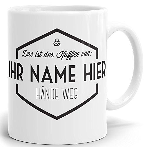 Drucksaal Namenstasse-Tasse-Becher-Kaffeetasse-mit Name-mit Namen individuell und persönlich Motiv Simple Vintage Tasse