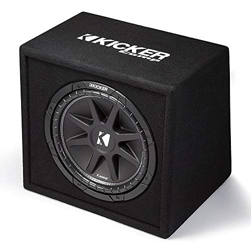 KICKER Comp 12' 300W 4 Ohm Carpeted Vented Loaded Subwoofer Enclosure | 43VC124