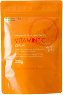 ビタミンC 100%粉末サプリ L-アスコルビン酸 国産 200g(約200日分)
