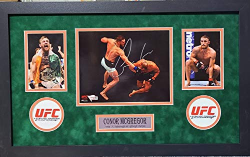 Conor McGregor Signed Autograph UFC Custom Framed 8x10 Photo 2 Suede Matted Fanatics Authentic Certified
