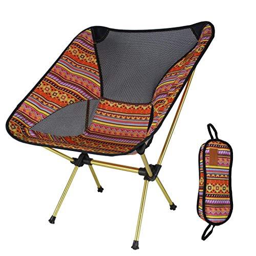 Alliage d'aluminium de Chaise Pliante de Petit Banc extérieur Augmentant Le Tabouret Se Pliant Pratique de Chaise de Camping Durable (Couleur : Orange)