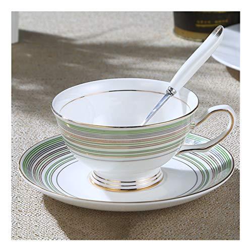 William 337 Drinkware 2 Sets/3 Kleur - Bone China Koffie Bekers Schotel Lepel Kleine Verse Thee Bekers, Home Party Office Middag Thee Paar Verjaardag Present
