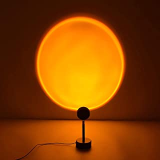 Sunset Lamp, Sunset Light Projector Atmosphere Lamp, 360 Degree Sunset Projection Lamp LED Night Light Projector for Kids ...