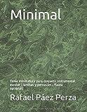 Minimal: Tema minimalista para conjunto instrumental escolar (láminas y percusión - flauta...