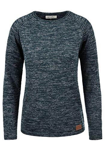OXMO Daniela Damen Strickpullover Feinstrick Pullover mit Rundhalsausschnitt, Größe:S, Farbe:Navy (70230)