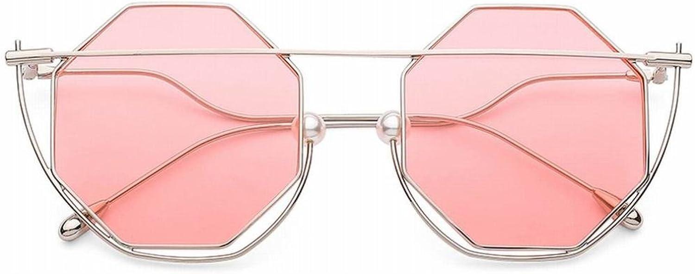 Western Wind Hexagonal color Film Sunglasses Female Couple Street Shape concave Yellow Sunglasses SLR