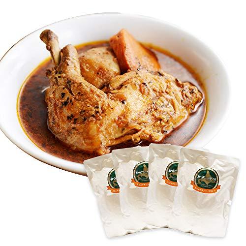 Amazon 限定 北国の 丸ごと チキン レッグ スープカレー 4食セット 中辛 北国からの贈り物