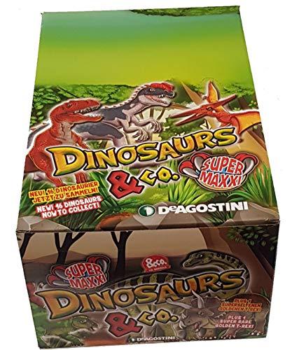 Unbekannt DeAgostini Dinosaurs & co Maxxi Edition 1 x Display Inhalt 12 Booster Dinosaurier
