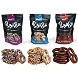 Chocolate Snack Pretzel Bites - Bag of Chocolate Covered Mini Pretzels- Variety Pack 3 Bags- Great...