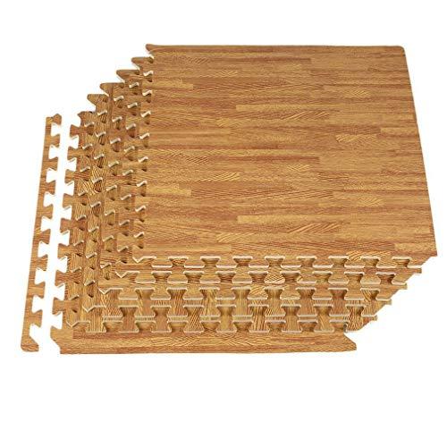 Homgrace Juego de esterillas protectoras, 60 x 60, con forma de puzzle, para proteger el suelo de oficinas, gimnasios, garajes, aparatos de gimnasia, para hacer fitness, yoga (48 Matten)