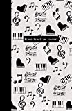 Piano Practice Journal: Bullet Planner for Piano Students - Get Organized, Set Goals, Track Your Piano Practice and Get Motivated! (Black & White Music Symbols)