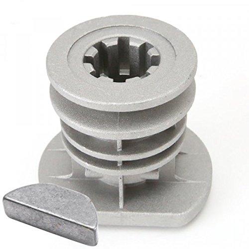 Support de lame pour Castelgarden GGP 22465607/0 Ø 22,2 mm + clavette - Pièce neuve
