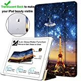 DuraSafe Cases For iPad PRO 12.9 - 2 Gen Slimline Series Lightweight Protective Cover with Dual Angle Stand & Clear PC Back Shell - Paris Night