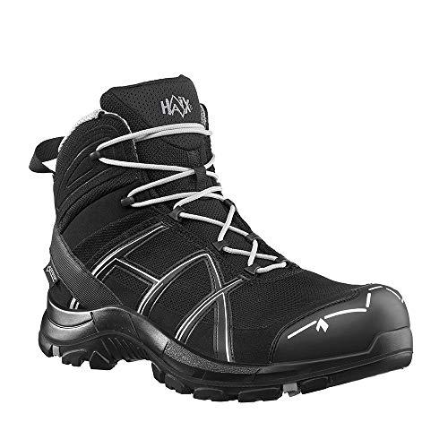 Haix Black Eagle Safety 40.1 mid/Black-Silver Bequeme Arbeitskleidung: Sicherheitsschuhe für Handwerk und Industrie. 44