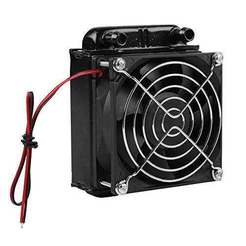 CPU-waterkoeler, 80 mm puur aluminium radiator PC-waterkoeler met ventilator voor computer CPU-koeling, airconditioning verdamper, industriële schakelkastkoeling, enz