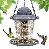 Vogelfutterhaus, futterhaus für vögel Pavillonform mit Dach für Außendekoration zum Anlocken von Vögeln, Grosse Kapazität Futterstationen Futterspender für Wildvögel, Aufhängen im Garten