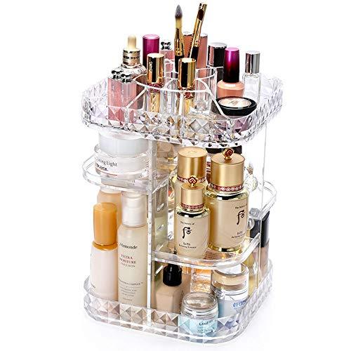 Triplsun Trousse à maquillage ajustable DIY 360, boîte de rangement à cosmétiques