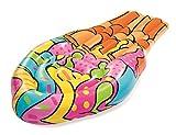BESTWAY 43185 - Helado Hinchable Pop Art 188x95 cm Para 1 Adulto Multicolor Fácil Inflado con Válvulas de Seguridad y Dos Cámaras de Aire Parche de Reparación