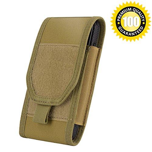 Shidan Schwerlast Kompatibel Gürteltasche Taktische Molle Tasche Große Smartphone Tasche für 5,7 Zoll Telefon (Passt mit einem Fall stoßfängerabdeckung auf)