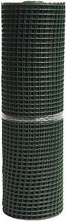 MALLA PLAST. CUADRADA JARDIN 20mm VERDE 1x25m (rollo malla plástico cuadrada verde 20mm)