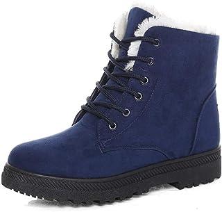 حذاء رياضي بنعل مسطح من جلد السويد من سوساني، بووتس ثلجية مخملية مع رباطات قطنية شتوية للنساء