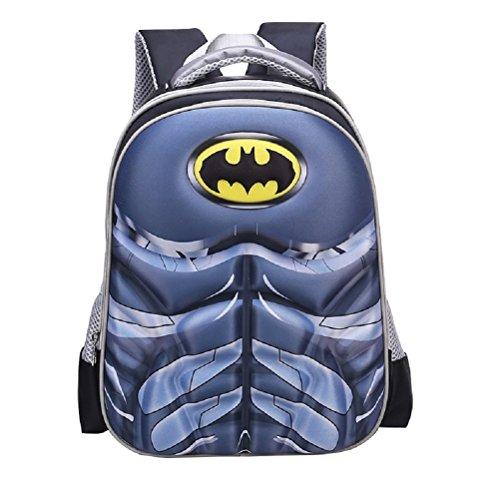 Childrens Superhero Backpack with Adjustable Shoulder Straps (Batman)