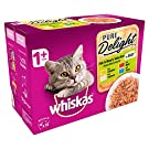 Whiskas Pure Delight Fish & Meaty Adult 1+ Wet Cat Food Pouches (12 x 85g)
