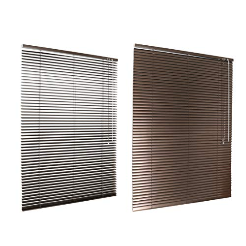HSYLYM Jalousie, Aluminium, 50 x 130 cm, Braun