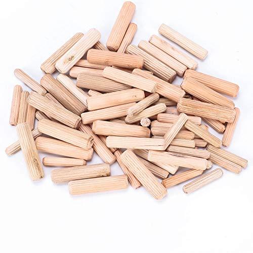 INNKER 400Pcs Assorted Wooden Dowels Wood Craft Dowel Pins 1/4
