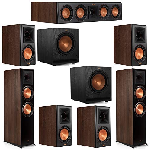 Review Klipsch 7.2 Walnut System 2 RP-8000F Floorstanding Speakers, 1 Klipsch RP-404C Center Speaker...