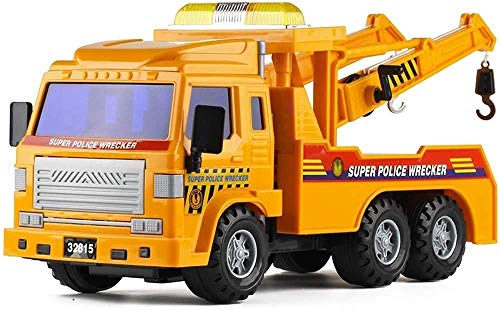 WANGCH Gran Carretera Modelo de vehículo de Rescate Niño Niño Simulación Inercia Vehículo de ingeniería Camión Remolque Grúa Coche de Juguete Camión Transportador Coche de Juguete Infantil Deslizante