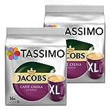 Tassimo Jacobs Caffè Crema Intenso XL Ground Coffee, Coffee Capsule Roaster Coffee 32T-Discs