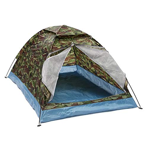 Playa abrigo de la tienda Sun Tienda al aire libre 1-2 personas acampa impermeable a prueba de viento UV sombrilla toldo verde para el parque de la playa Pesca ( Color : Green , Size : 200x140x110cm )