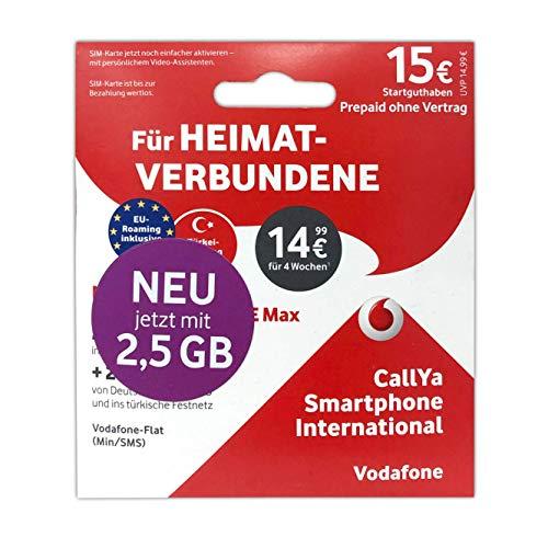 Vodafone Callya Smartphone International + 15 Startguthaben