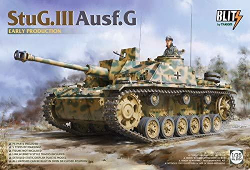 TAKOM 8004-1 / 35 StuG.III Ausf.G Prima Produzione - Carro Armato Tedesco Modello Panzer Stug III