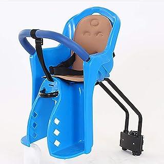 KIRA Asiento De Bicicleta para Niños Sillín De Seguridad para Niños Diseño del Asiento Delantero Cojín Suave Transpirable Cinturón De Seguridad Adecuado para Bicicletas De Montaña