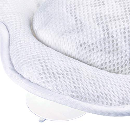Sierra Concepts Ergonomic Heavenly Luxury 3D Mesh Spa Bath Pillow for Bathtub, Spa with Six Strong Grip Suction Cups - Soft, Comfortable