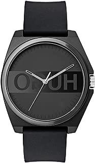 Hugo Men's #Play Quartz TR90 and Rubber Strap Casual Watch, Color: Black (Model: 1520006)