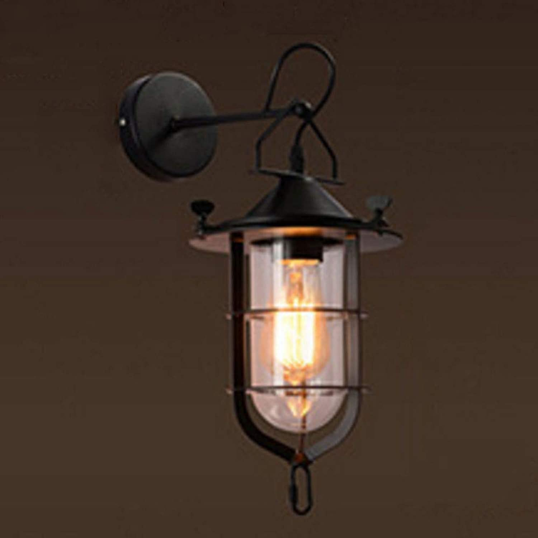 NHX Wandlampe Retro Kreative Eisen Wandleuchte Retro Loft E27 Schraube Glühbirne Basis 220 V, Jede Lampe Ist Mit Einer Festen Glühbirne Ausgestattet,G(25  40cm)