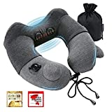 Travelmall Award-Winning Neck Massager,Deep Tissue Trigger Point Massage,Neck Pain Relief, Inflatable Travel Neck Pillow Gifts for Men & Women,Use at Home Office and Car